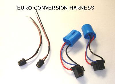 1985 1992 vw golf jetta 2 mk2 euro headlight wiring kit