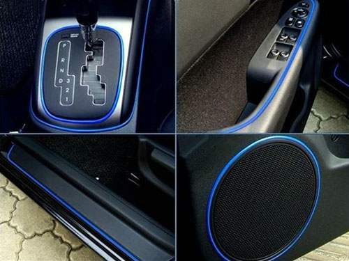universal car interior exterior blue molding trim 3 yards ebay. Black Bedroom Furniture Sets. Home Design Ideas