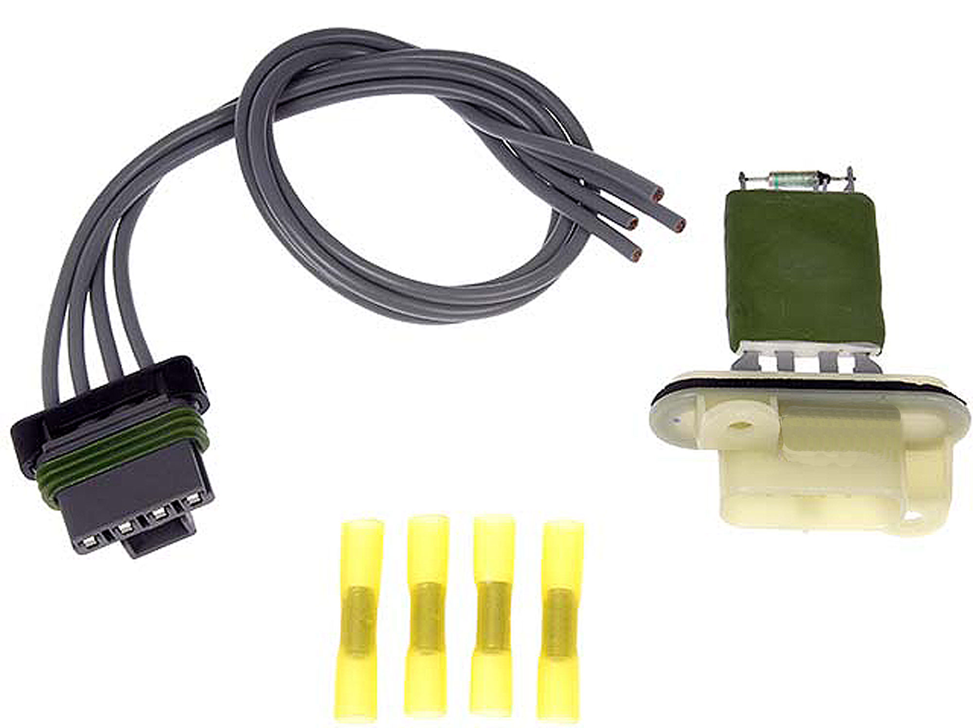 Brand New Blower Motor Switch Resistor Kit w/ Wiring Harness Pigtail  Connector Fits 2004-2008 Chevrolet Colorado Fits 2003-2006 Chevrolet SSR