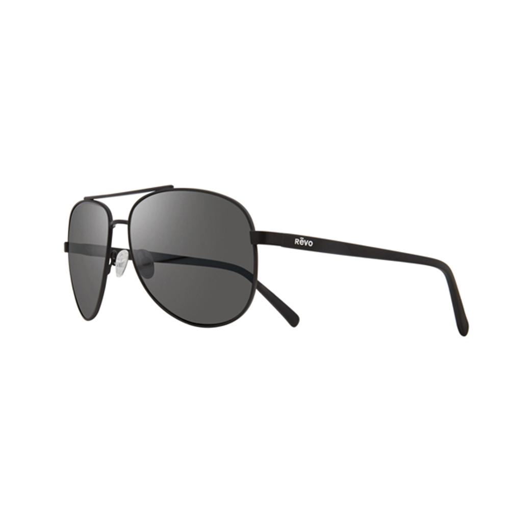 7f63b403b7 Revo Shaw RE 5021 01 GY Polarized Aviator Sunglasses Black