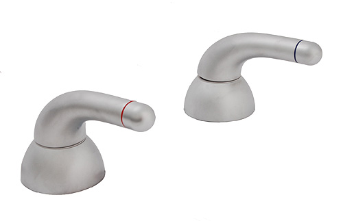 Hansgrohe 36422 Axor Allegroh Tub Deck Valve and Handles, Satin Chrome
