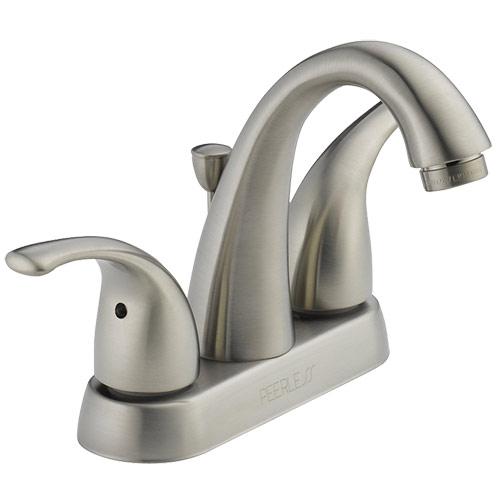 Peerless Bathroom Faucets: Peerless P299695LF-BN Apex Two Handle Bathroom Sink Faucet
