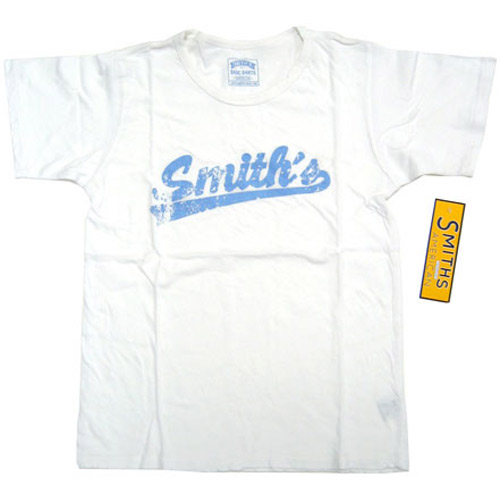 Smith's American Basic White Vintage Distressed T-Shirt, Women' Medium/Large - Smith's American Fashion