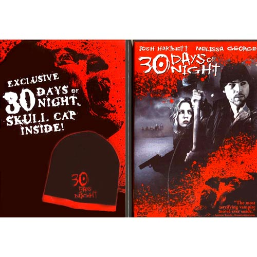 30 Days of Night DVD Movie with Exclusive Skull Cap Josh Hartnett - Horror Movies and DVDs