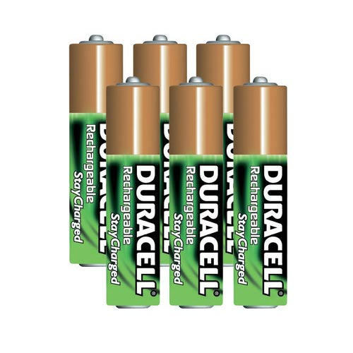 Duracell AAA 6-Pack Pre-Charged Rechargeable Stay Charged