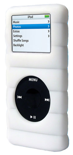 gifts and gadgets store - Speck Funskin iPod Cloud Skin Case CL-WHITE-NN w/ Belt Clip, Fits 2/4 Gig Nanos (1st Gen) - iPod and Cell Phone Accessories - Electronics