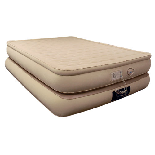 Aerobed 78713 Luxury Collection Smart Settings Raised Pillowtop Inflatable Air Bed Mattress Queen - AeroBed Inflatable Beds Home and Garden