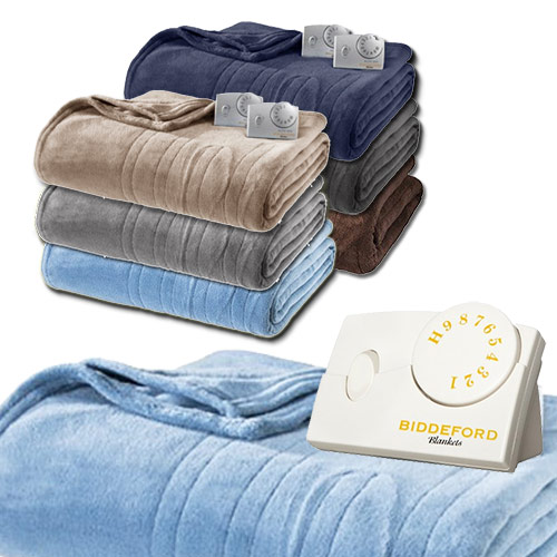 Biddeford 2030-9032122-507 MicroPlush Electric Heated Blanket Twin Blue