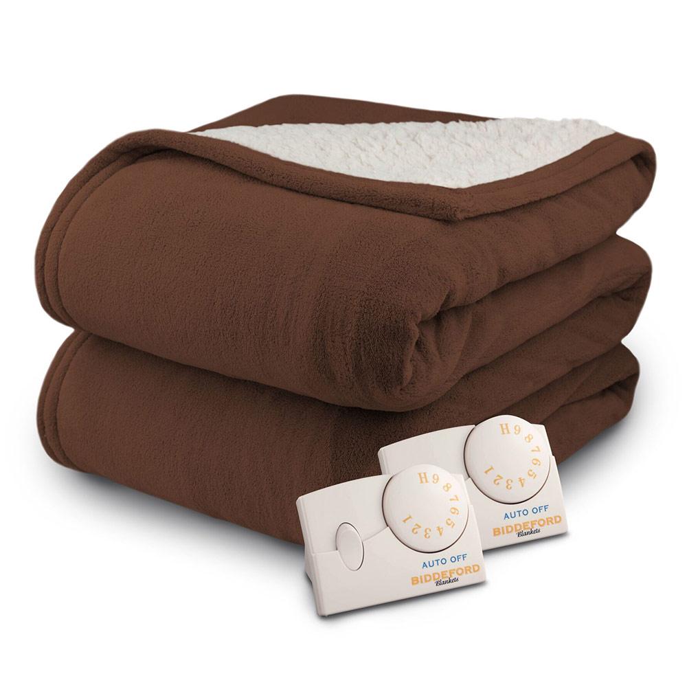 Biddeford Microplush Sherpa Analog Electric Blanket Twin