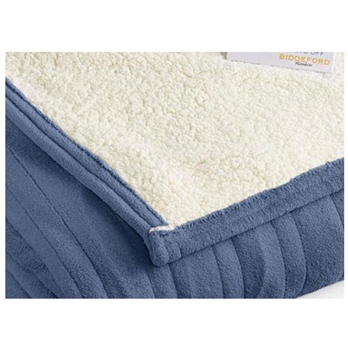 Biddeford-MicroPlush-Sherpa-Electric-Heated-Warming-Blanket-Twin-Full-Queen-King thumbnail 9