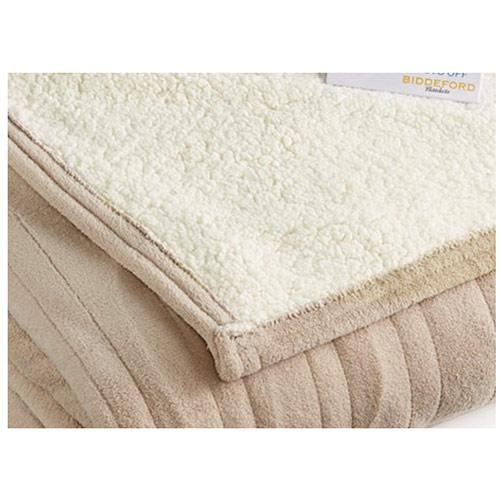 Biddeford-MicroPlush-Sherpa-Electric-Heated-Warming-Blanket-Twin-Full-Queen-King thumbnail 6