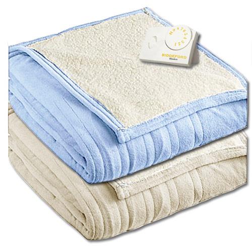 biddeford microplush sherpa analog electric blanket twin. Black Bedroom Furniture Sets. Home Design Ideas
