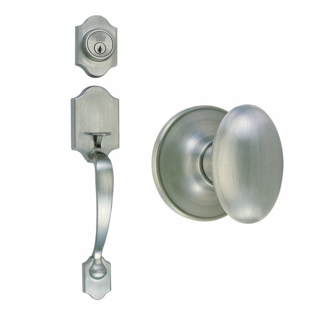 Design House 753954 2 Way Latch Entry Door Handle Set Adj
