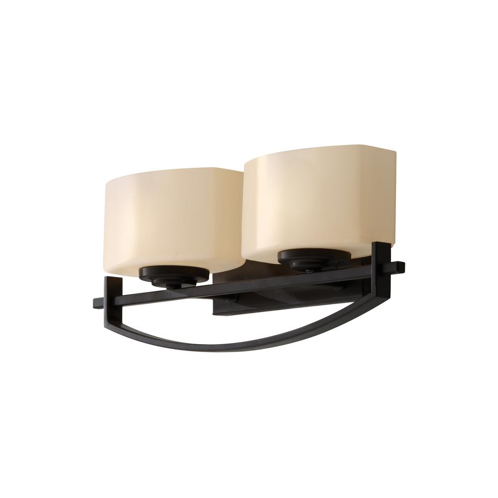 Feiss VS18202-ORB Bleeker Street 2-Light Vanity Fixture Oil Rubbed Bronze Finish eBay