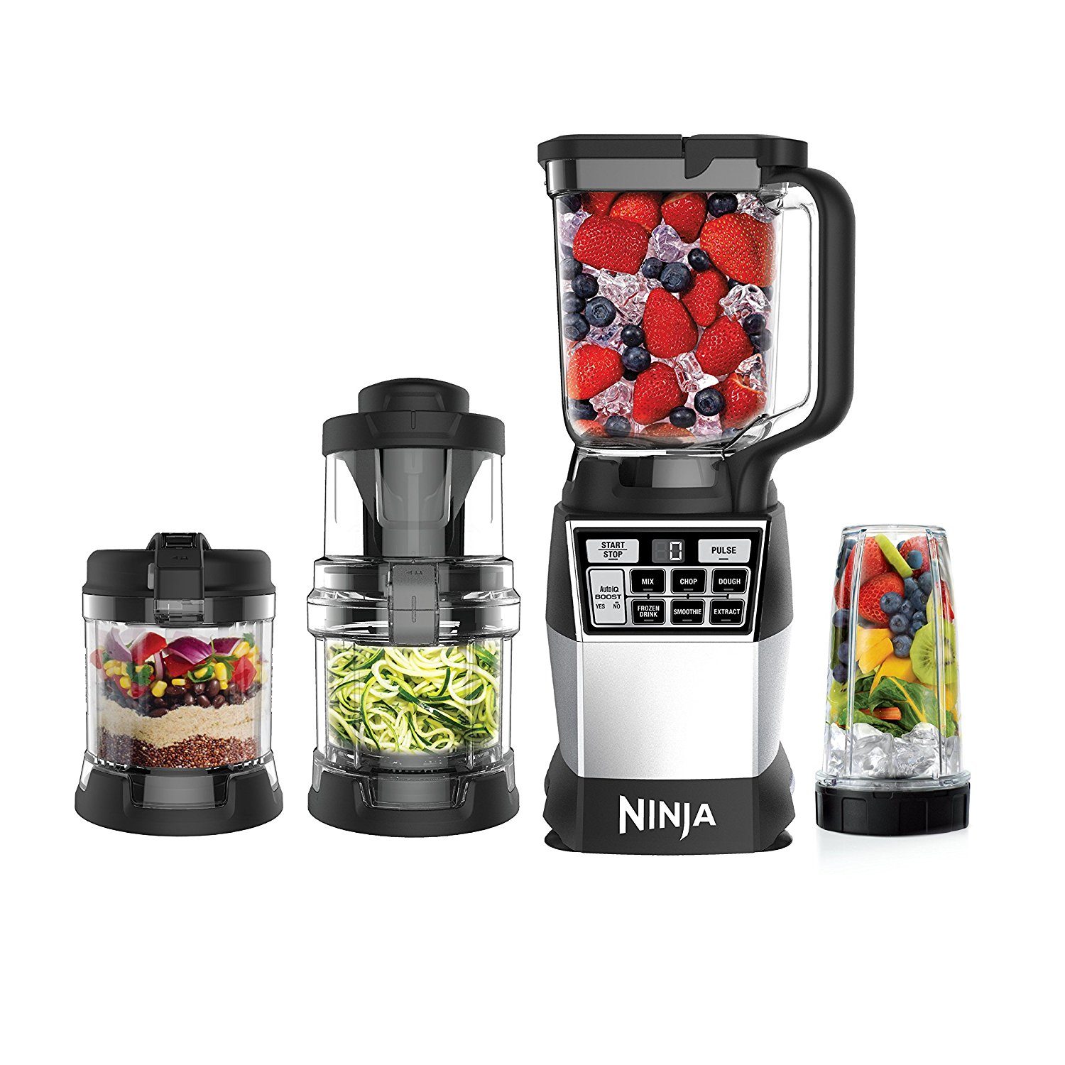 Ninja NN210Q 4-in-1 Blender and Food 1200-Watt Processor System, Black