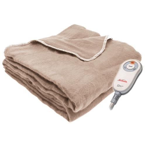 Sunbeam Electric Heated Fleece Warming Throw Blanket