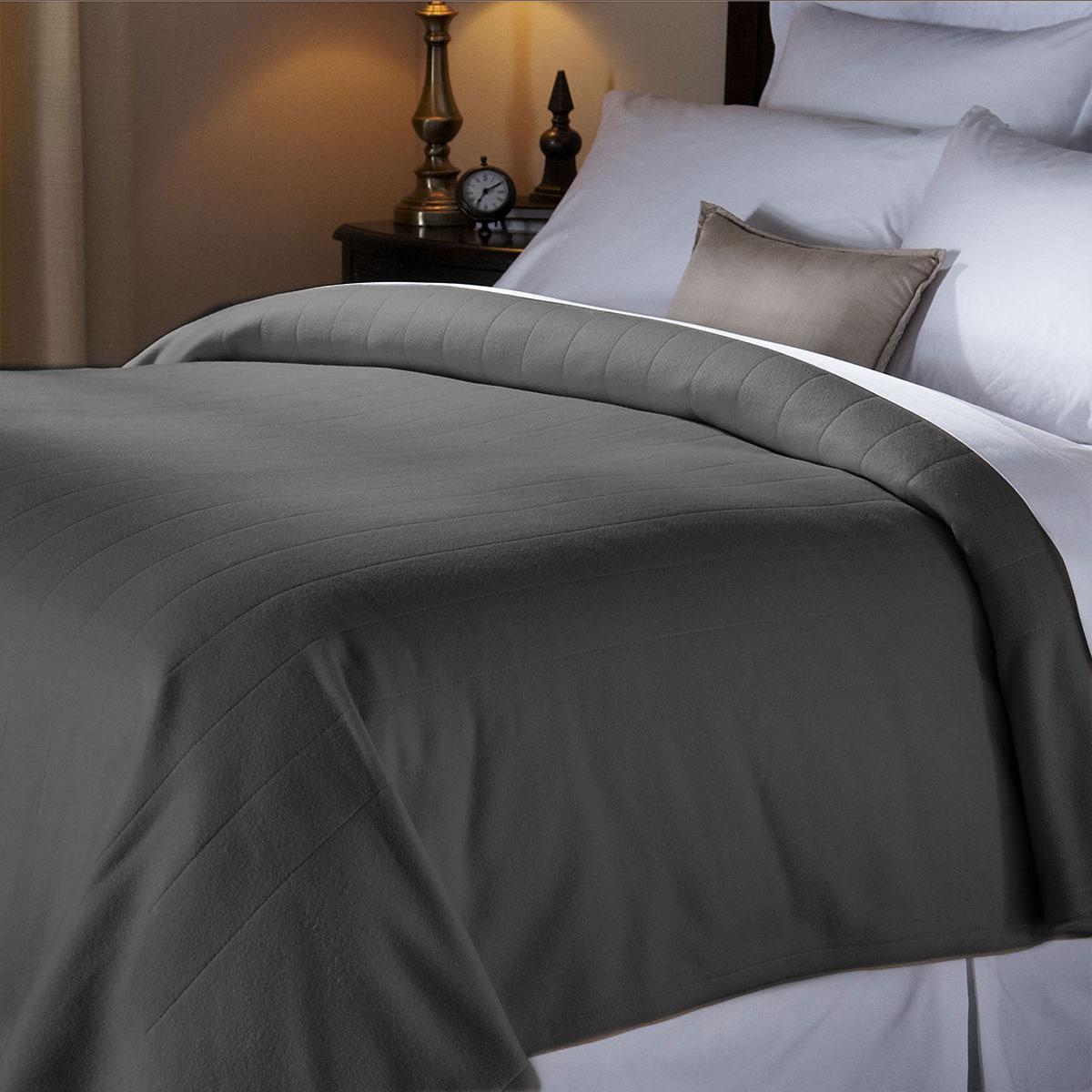 Sunbeam Heated Blanket Queen Electric Fleece Bed Warming Blankets