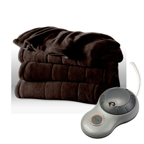 sunbeam channeled microplush electric heated blanket twin full queen king size ebay. Black Bedroom Furniture Sets. Home Design Ideas