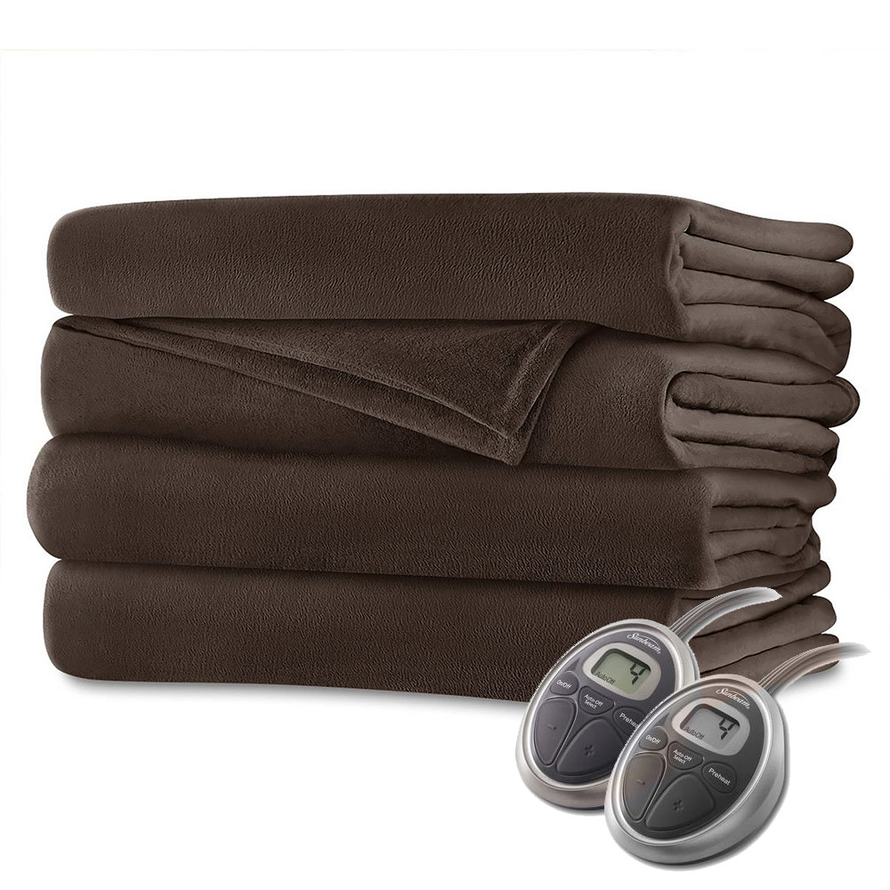 Sunbeam Velvet Plush Electric Heated Blanket King Size
