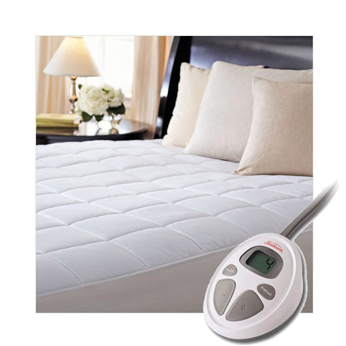 Sunbeam Premium Luxury Quilted Electric Heated Mattress Pad - Queen Size