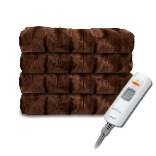 Sunbeam Faux Fur Ultra Soft Heated Electric Throw Blanket
