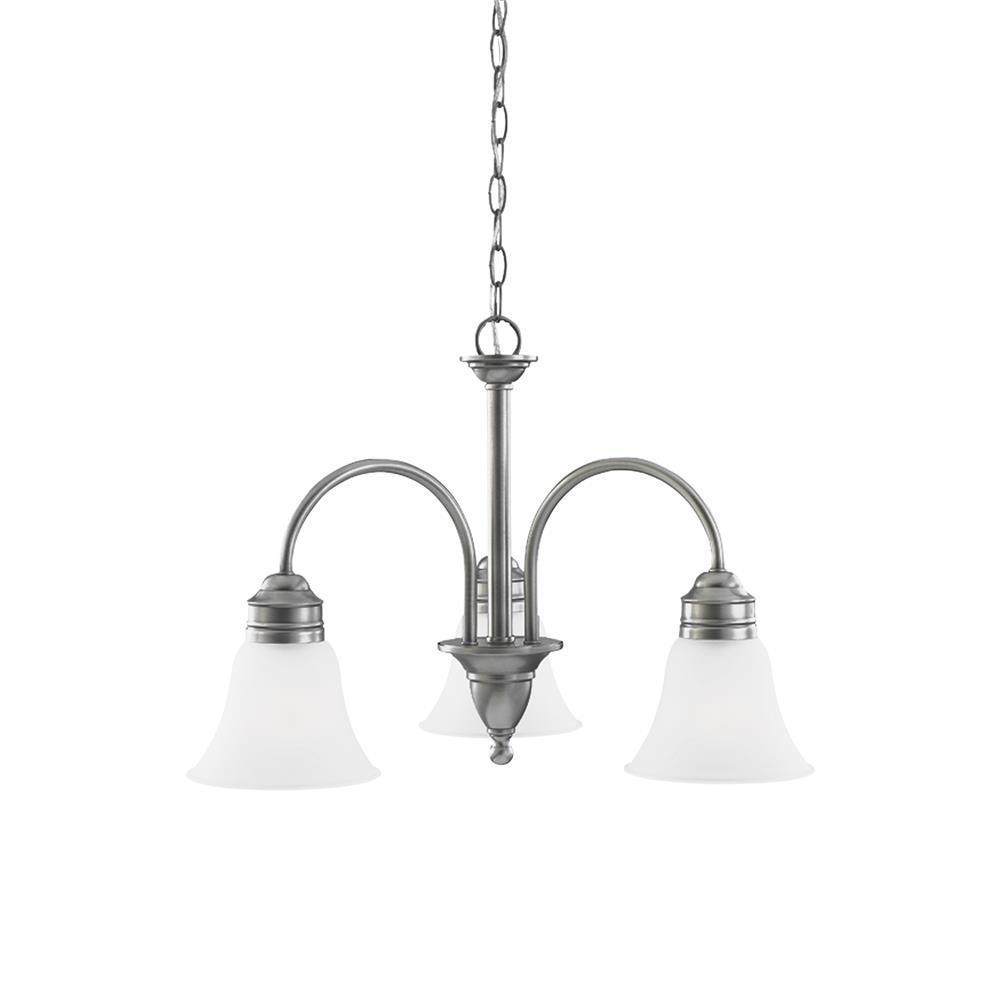 Sea Gull Lighting Gladstone 5 Light Antique Brushed Nickel: Sea Gull Lighting 31850-965 3-Light Chandelier Antique