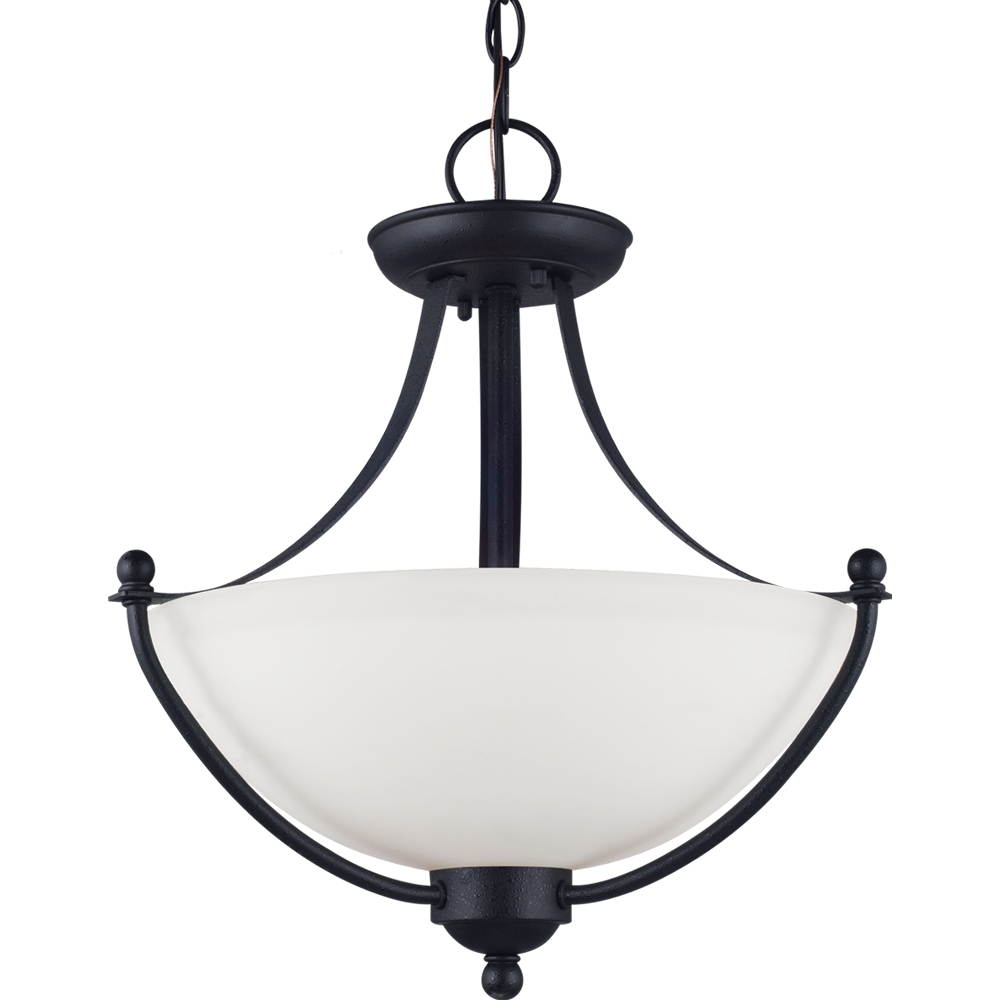 Sea Gull Lights: Sea Gull Lighting 77270-839 2-Light Semi Flush Convertible