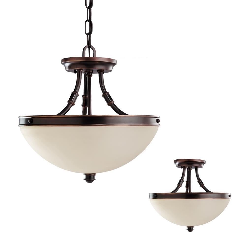Seagulllighting: Sea Gull Lighting 77330-715 Warwick 2 Light Round Ceiling