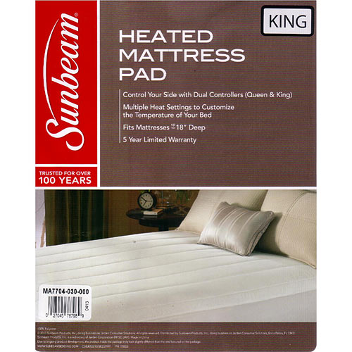 Thermofine Quilted Striped Heated Electric Mattress Pad