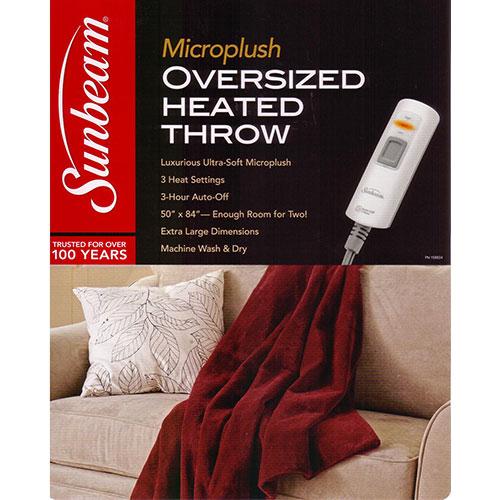 Sunbeam 2 Person Microplush X Large Electric Heated Throw