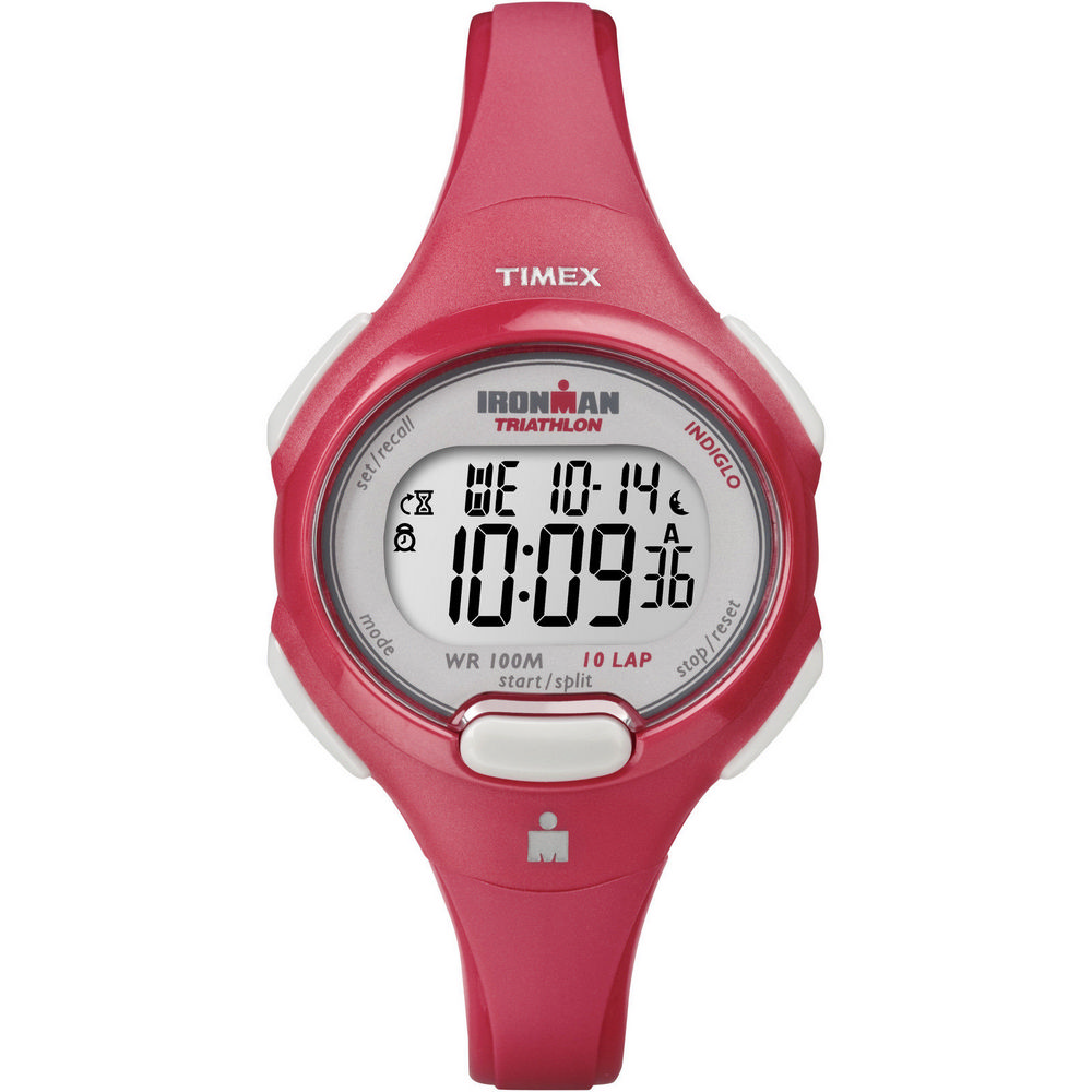 Timex T5K783  Womens Ironman Red Case & Strap Watch