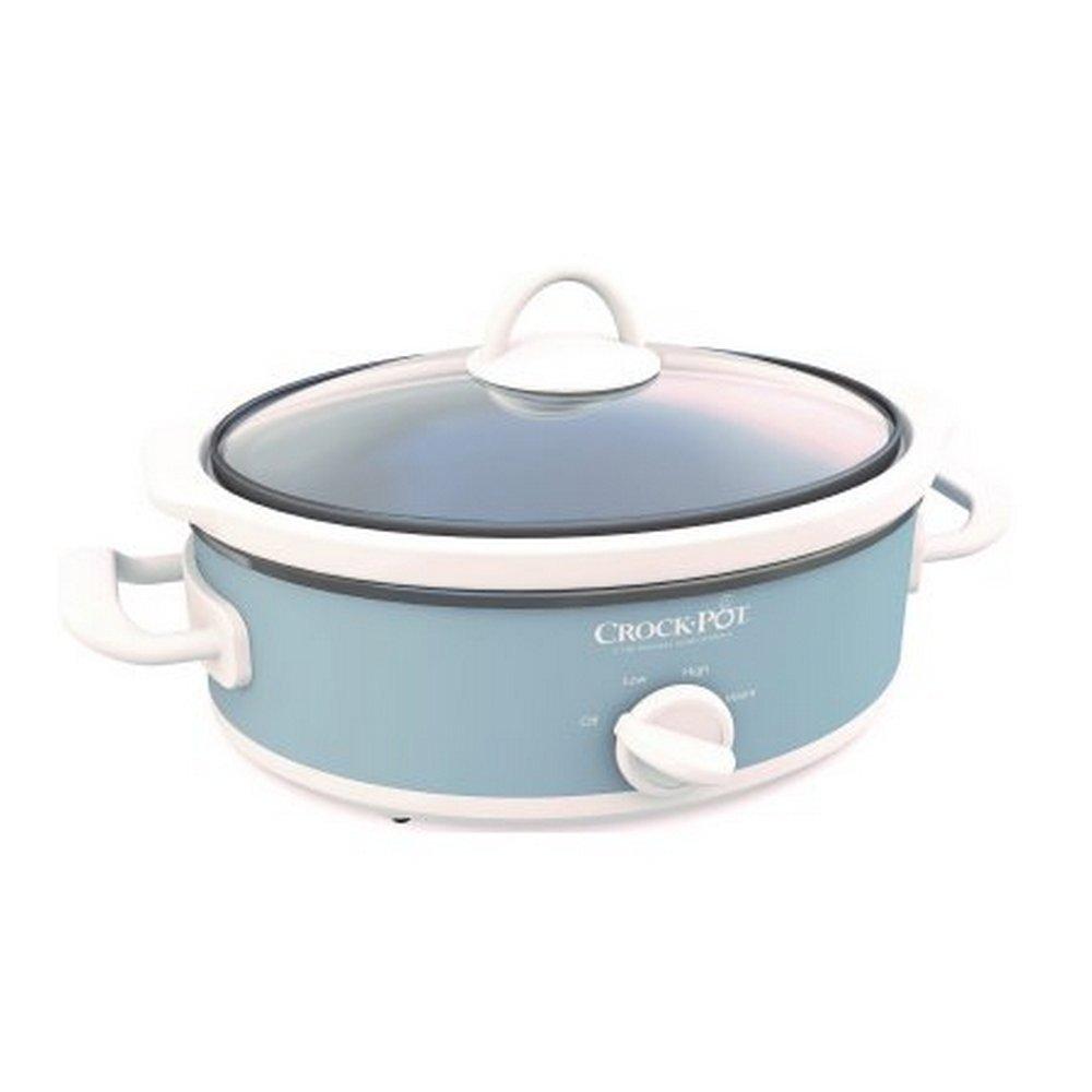 Crock-Pot Casserole Crock Mini Oval Slow Cooker 2.5-Quart Gray