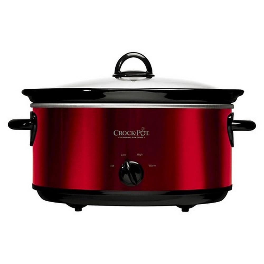 Crock-Pot SCV800-R 8-Quart Manual Slow Cooker Red