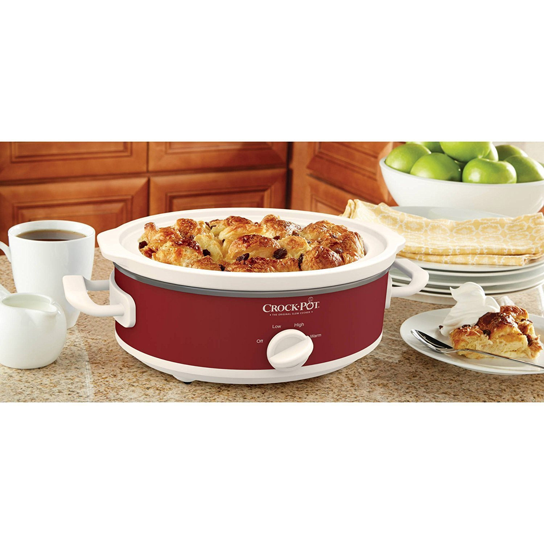 Crock-Pot SCCPCCM250N-R-WM Casserole Crock 2.5-Quart Oval Slow Cooker