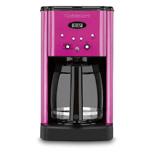 gifts and gadgets store - Cuisinart DCC-1200MP Metallic Pink 12-cup Brew Central Programmable Coffeemaker - Coffee, Tea and Espresso - Kitchen Appliances