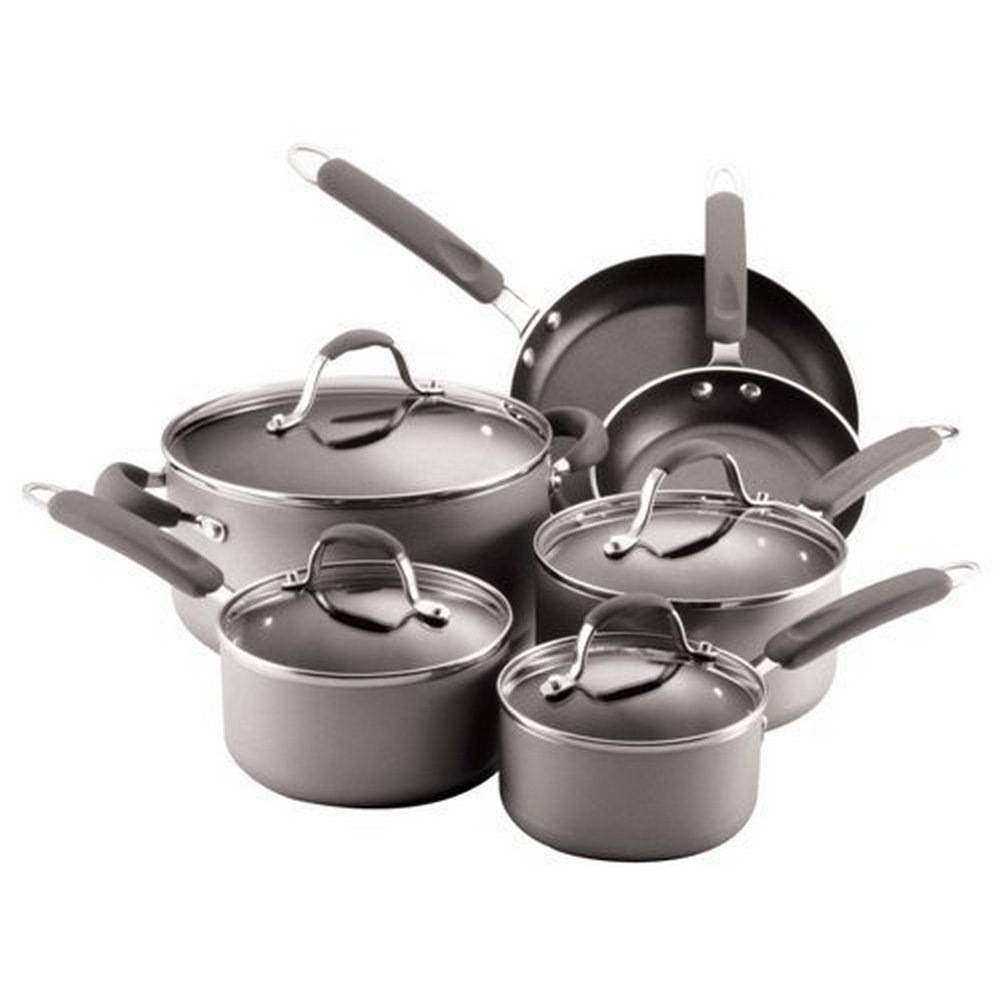 Farberware 20772 Enhanced Aluminum Nonstick 10 Piece Cookware Set Silver