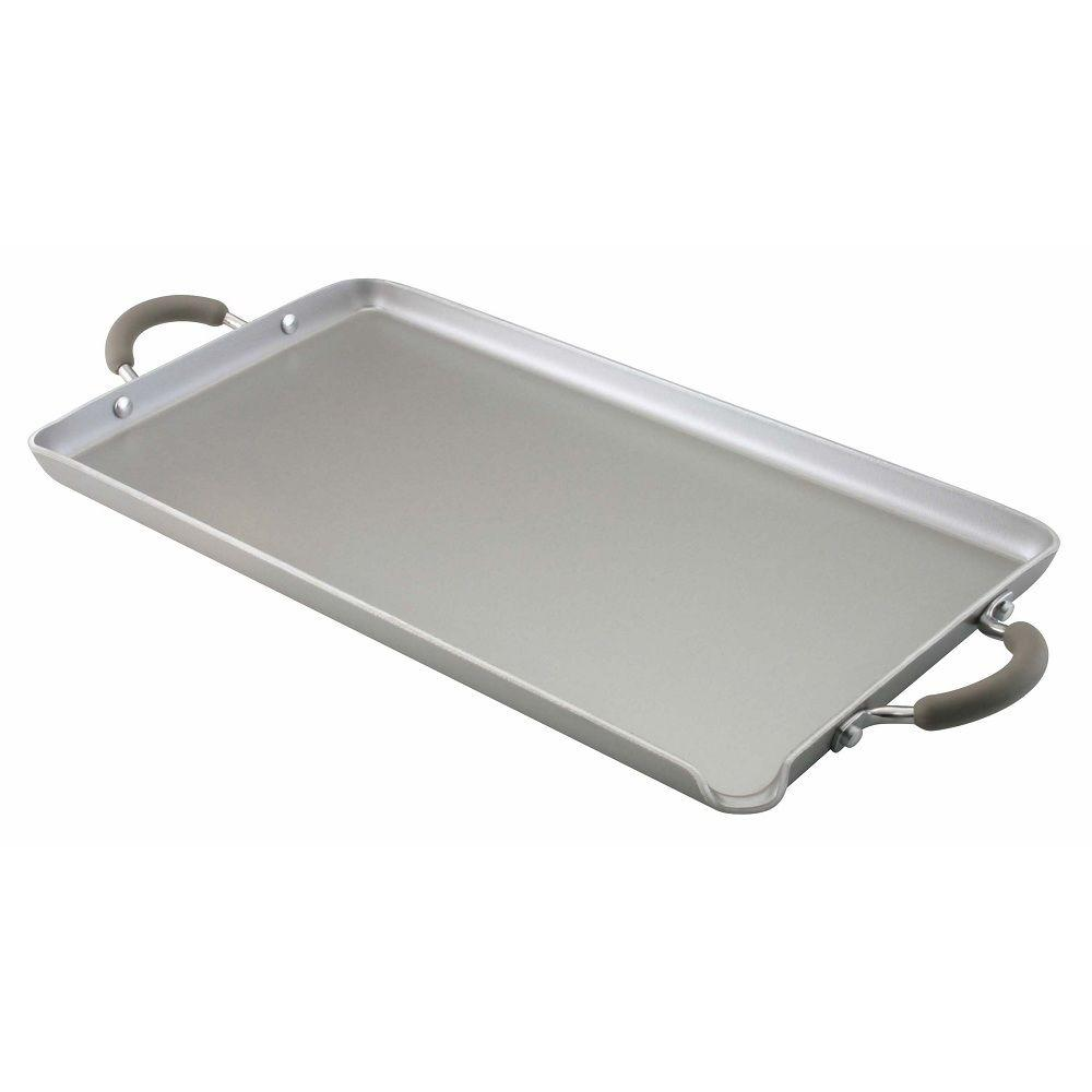 "Farberware Specialties Nonstick Aluminum 18"" X 10"" Double Burner Griddle"