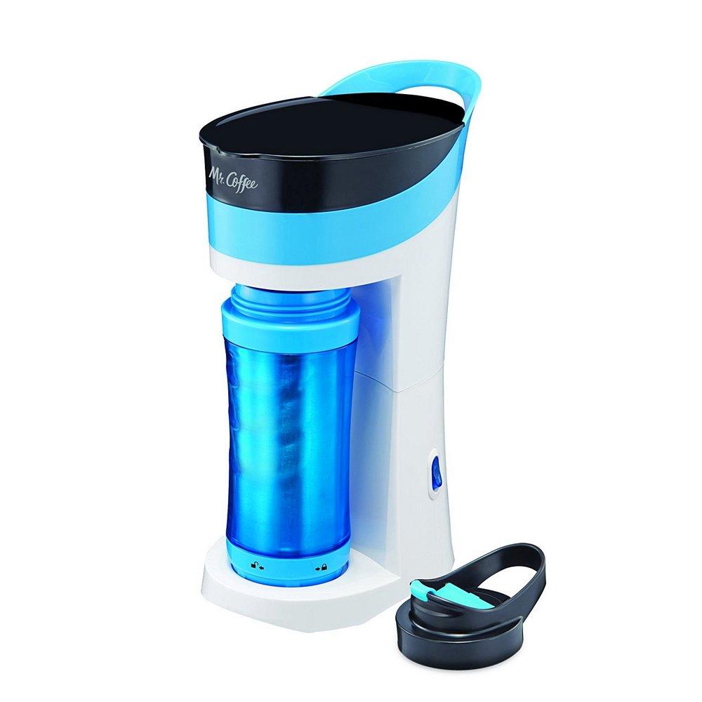 Mr. Coffee BVMC-MLBU 16oz Personal Coffee Maker TO-GO mug Caffeine Blue BVMC-MLBU