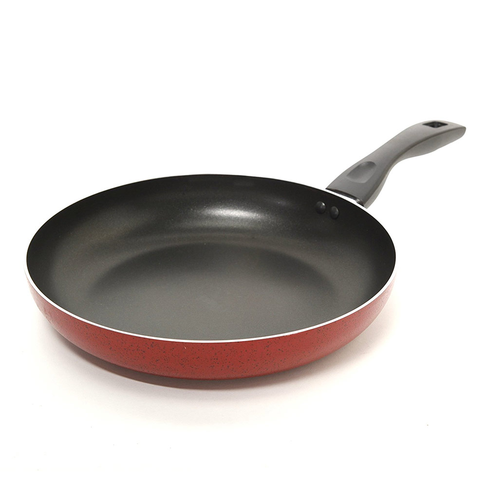 Frying Pan: Oster 91114.01 Telford 12-Inch Frying Pan Red 85081142955