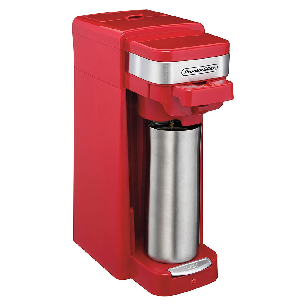 Proctor Silex 49977 FlexBrew Single Serve Pack or Ground Coffee Maker Red 49977