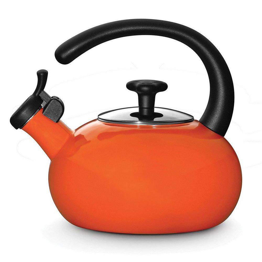 Rachael Ray TeaKettle 1-1/2-Quart Whistling Orange 54934