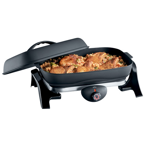 Rival S16rw Electric Skillet Removable Pan Extra Large