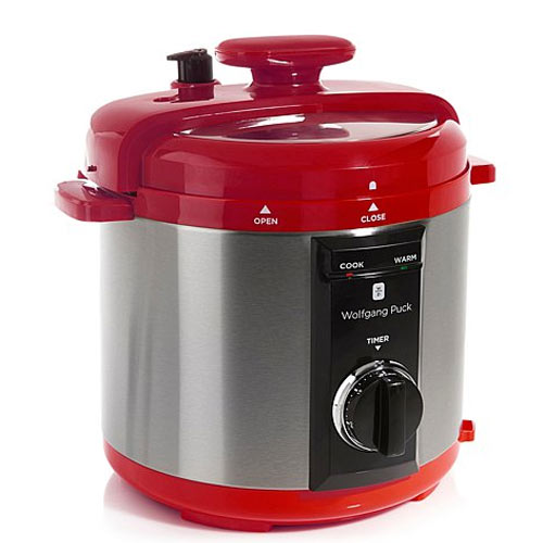 gifts and gadgets store - Wolfgang Puck BPCRM800R 8-Quart Rapid Electric Pressure Cooker Red - Crock Pots and Slow Cookers - Kitchen Appliances