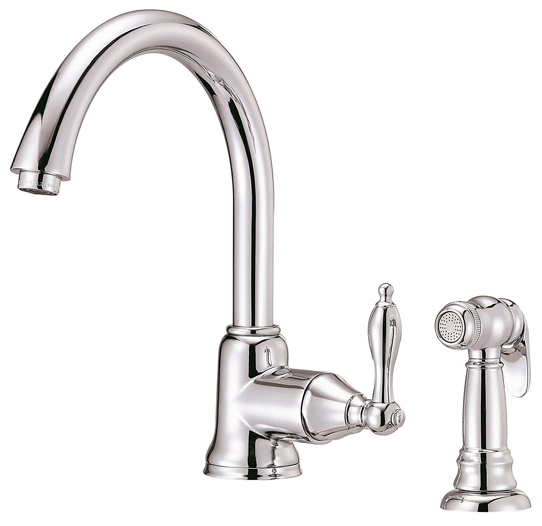 Details about Danze D401140 Fairmont Single Handle Kitchen Faucet with Side  Spray, Chrome