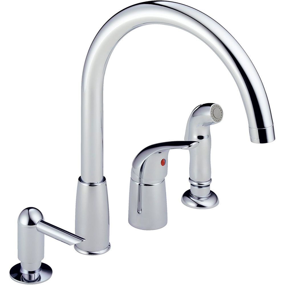 Peerless P88900lf Single Handle Waterfall Widespread Kitchen Faucet Chrome Ebay