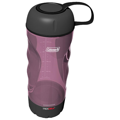Coleman 809-791 TrekCell PC Curve 24 oz Water Bottle, Purple - Camping and Hiking Outdoor Sports