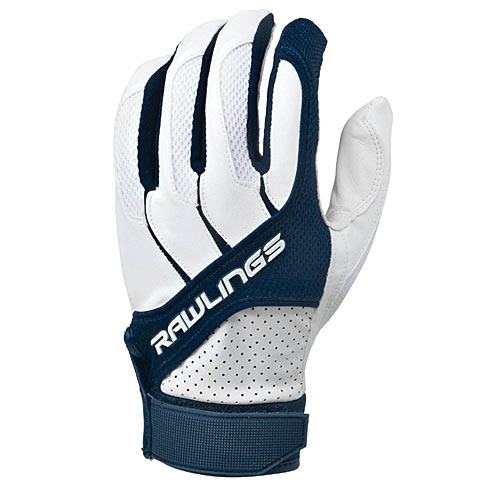 gifts and gadgets store - Rawlings BGP1150T-N-89 Adult Batting Gloves Navy, Size Medium - Baseball and Softball - Outdoor Sports