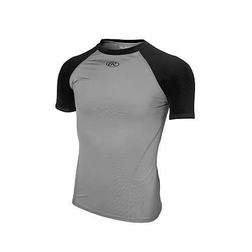 gifts and gadgets store - Rawlings YCPTB90 Youth Compression Tee, Large Black/Grey - Baseball and Softball - Outdoor Sports