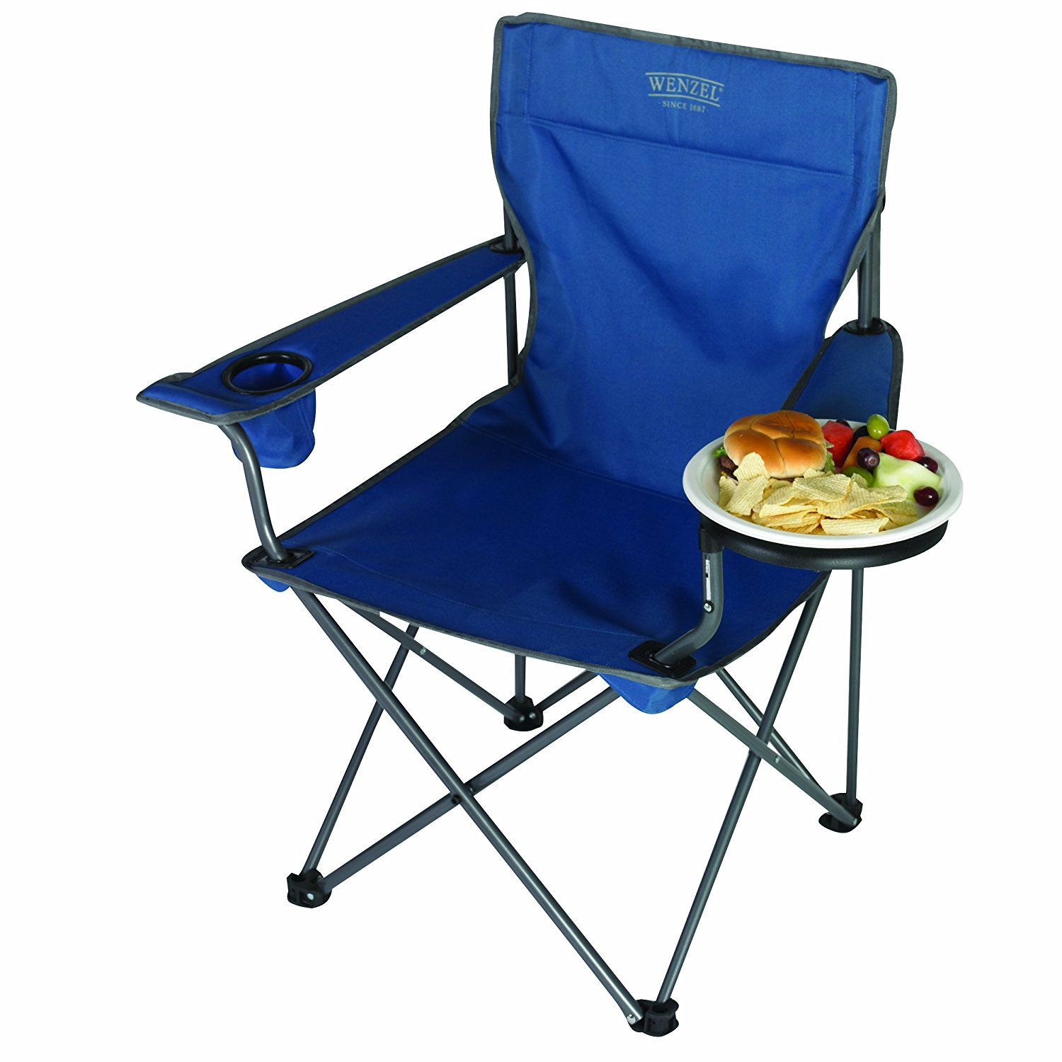Superb Details About Wenzel 97942 Banquet Folding Camping Extra Large Chair Blue Ibusinesslaw Wood Chair Design Ideas Ibusinesslaworg