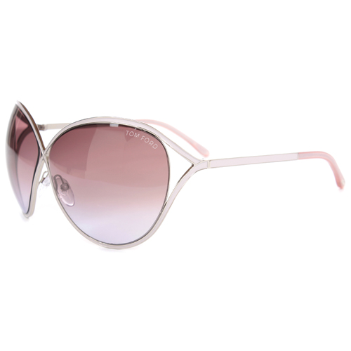 Tom Ford Sienna FT0178-72Z Oversized Sunglasses Silver Light Pink - Tom Ford Sunglasses Fashion